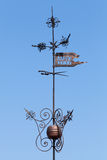 Vintage weather vane in Tallinn Stock Photos