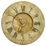 Vintage weathered clock face isolated on white Stock Image