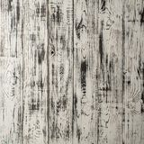 Vintage weathered shabby white painted wood texture as background. Square close-up for instagram Stock Photo