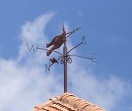 Vintage weathervane on roof Stock Photo