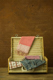 Vintage weave baggage Stock Image