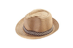 Vintage weave hat. Royalty Free Stock Image