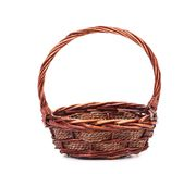 Vintage weave wicker basket Royalty Free Stock Image