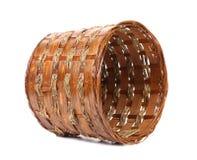 Vintage weave wicker basket Stock Image