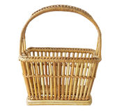 Vintage weave wicker basket isolated on white Royalty Free Stock Image