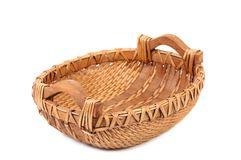 Vintage weave wicker basket. Royalty Free Stock Photography