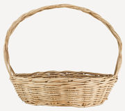Vintage weave wicker basket Royalty Free Stock Image