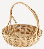 Vintage weave wicker basket Stock Photos