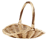 Vintage weave wicker basket Stock Image