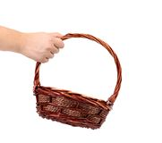Vintage weave wicker basket. Stock Images