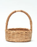 Vintage weave wicker basket isolated on white background Stock Photos