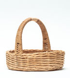 Vintage weave wicker basket isolated on white background Royalty Free Stock Photography