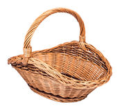 Vintage weave wicker basket Royalty Free Stock Photos