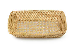 Vintage weave wicker basket isolated on white background Royalty Free Stock Image