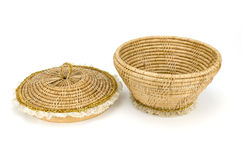 Vintage weave wicker basket Royalty Free Stock Photography