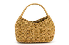 Vintage weave wicker basket Stock Images