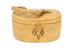 Vintage weave wicker basket Stock Photos