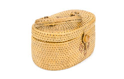 Vintage weave wicker basket Stock Photo