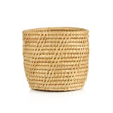 Vintage weave wicker basket isolated on white background.  Royalty Free Stock Images