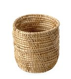 vintage weave wicker basket isolated on white Stock Photos