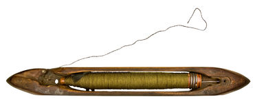 Vintage weaver`s spindle Stock Photo