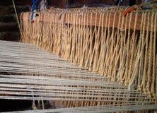 Vintage weaving wool loom Royalty Free Stock Photo