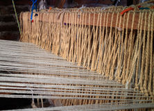 Vintage weaving wool loom Royalty Free Stock Photos