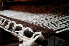 Vintage weaving wool loom Royalty Free Stock Photo