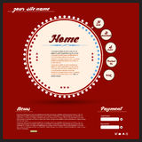 Vintage Web design. Red color Royalty Free Stock Photography