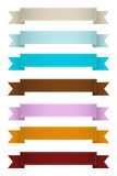 Vintage Web Ribbons. Abstract Decorative Colorful Vintage Christmas and Festive Ribbons Banners Elements Vectors Stock Photos