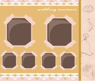 Vintage wedding album design Stock Image