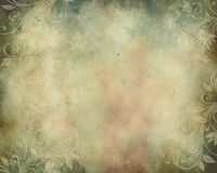 Vintage Background with Swirls. This is a horizontal illustration of a background of swirls and flowers set in warm colors for a vintage wedding announcement or Royalty Free Stock Photos