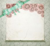 Vintage wedding background with roses. Royalty Free Stock Images