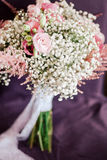 Vintage wedding bouquet close up stock photography