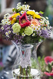 The vintage wedding bouquet. The wintage bunch made of various flowers Royalty Free Stock Photography