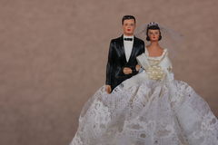 Vintage Wedding Cake Topper Royalty Free Stock Image