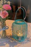 Vintage wedding candle Stock Image