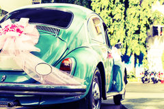 Vintage wedding car Royalty Free Stock Photo