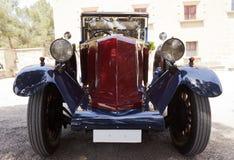 Vintage wedding car outdoors Stock Image
