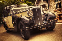 Vintage Wedding Car Stock Image