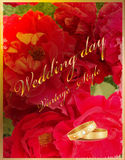 Vintage wedding card Stock Photos