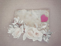 Vintage wedding card royalty free stock images