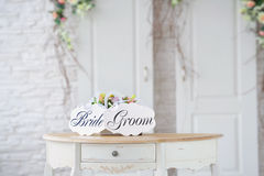 Vintage wedding decoration Stock Photo