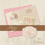 Vintage Wedding Design Elements - for Scrapbook Stock Photography