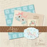 Vintage Wedding Design Elements - for Scrapbook Stock Photos