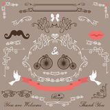 Vintage Wedding design elements set Royalty Free Stock Photos