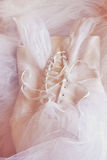 Vintage wedding dress corset background. wedding concept. filtered image Royalty Free Stock Photos