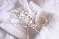 Vintage wedding dress corset background. wedding concept. filtered image Royalty Free Stock Image
