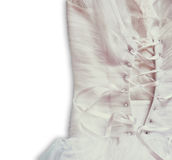 Vintage wedding dress corset background. wedding concept. isolated image Stock Photos