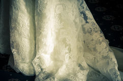 Vintage wedding dress detail Royalty Free Stock Image